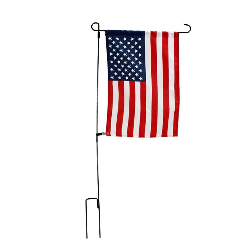 Garden-Outdoor-Iron-Flag-Pole-Yard-Flagpole-Stand-Holder-Banner-Bracket-Rack-USA thumbnail 11