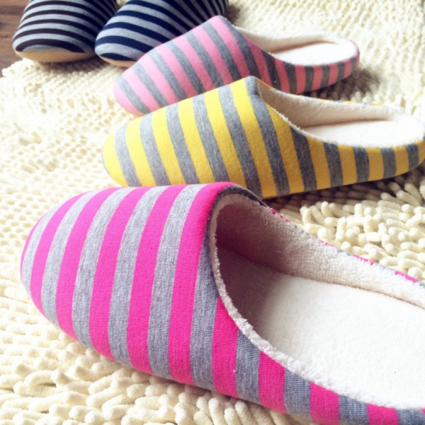 Cute Home Anti-slip Shoes Soft Winter Warm Sandal House Indoor Cotton Slippers