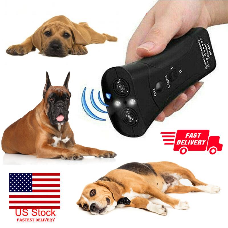 Ultrasonic LED Dog Stop Barking Train Repeller Control Train